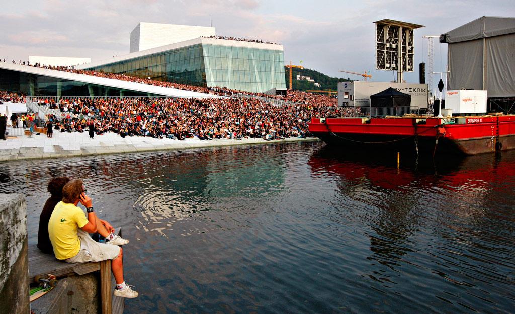 Tribuner Operaen I Oslo